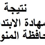 نتيجة الشهادة الابتدائية محافظة المنوفية