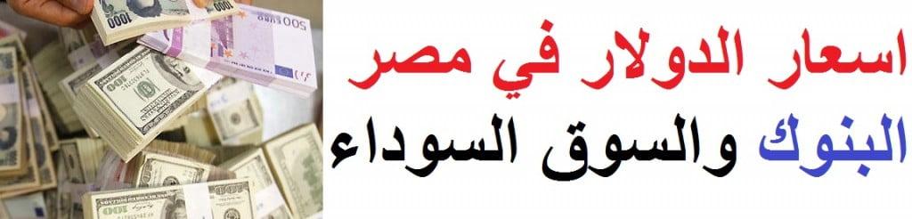 اسعار الدولار في مصر